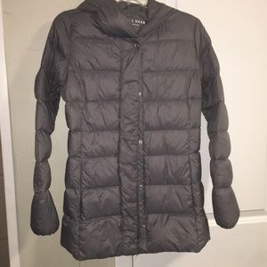 Cole Haan lightweight down jacket. Gray size Small